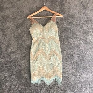 Lulus small dress. Mint green and nude color